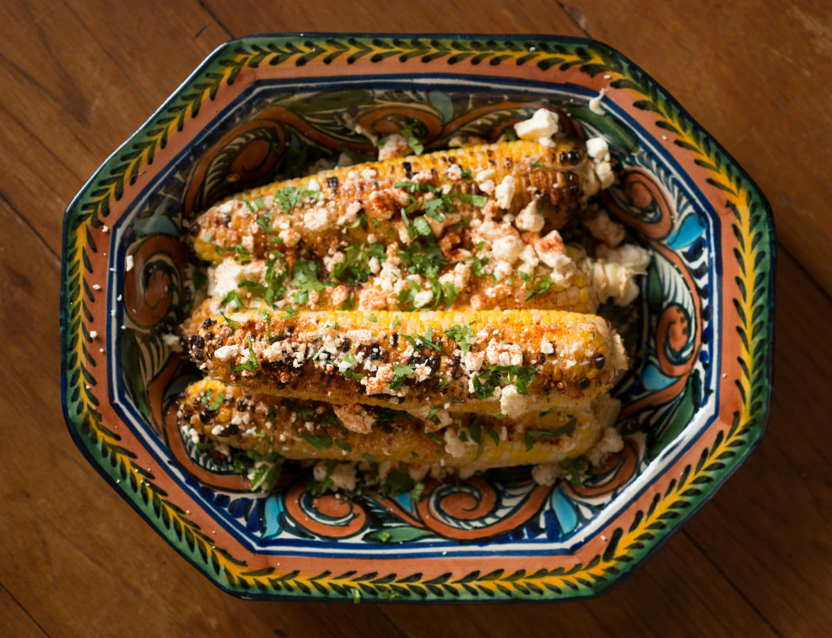 Grilled Corn with Tucumcari Cheese