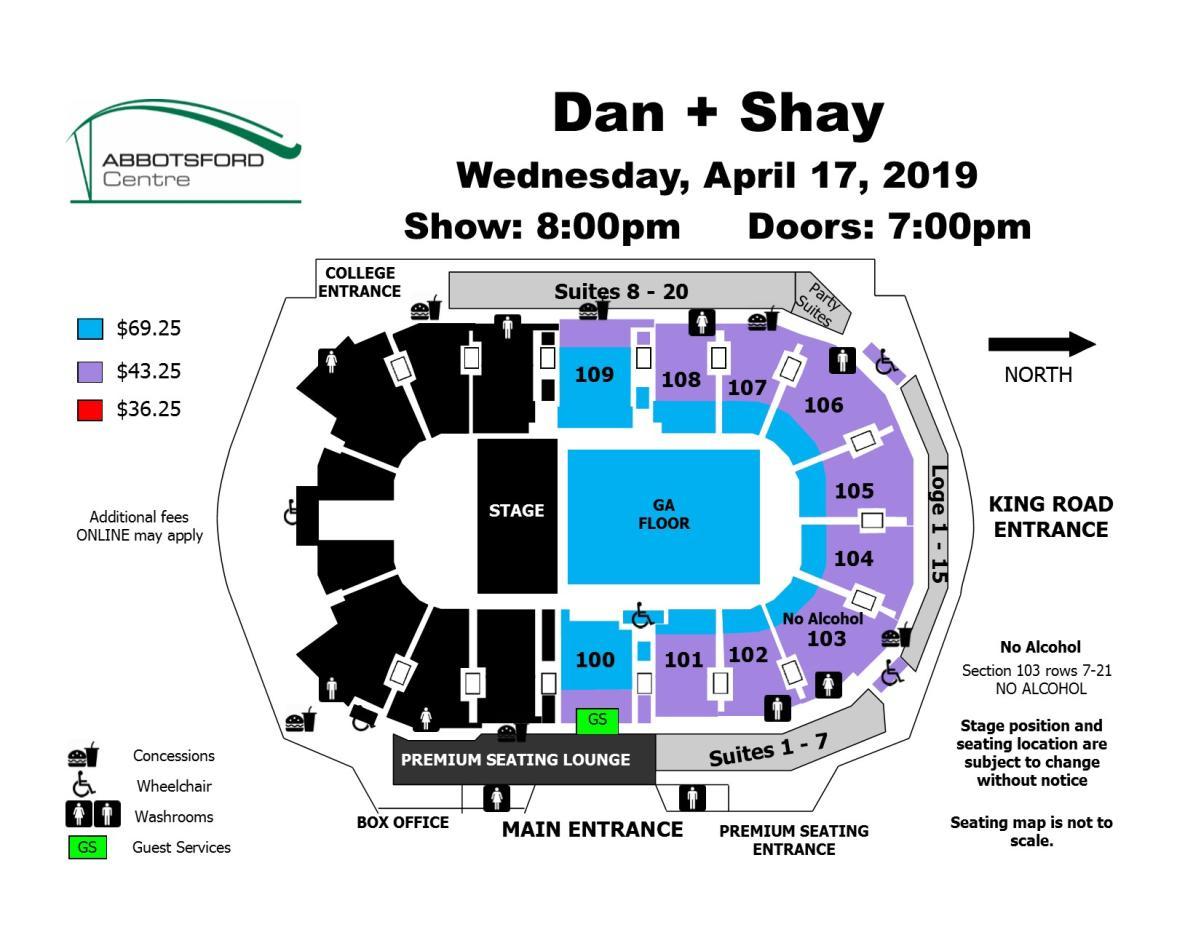 Seat Map - Dan + Shay