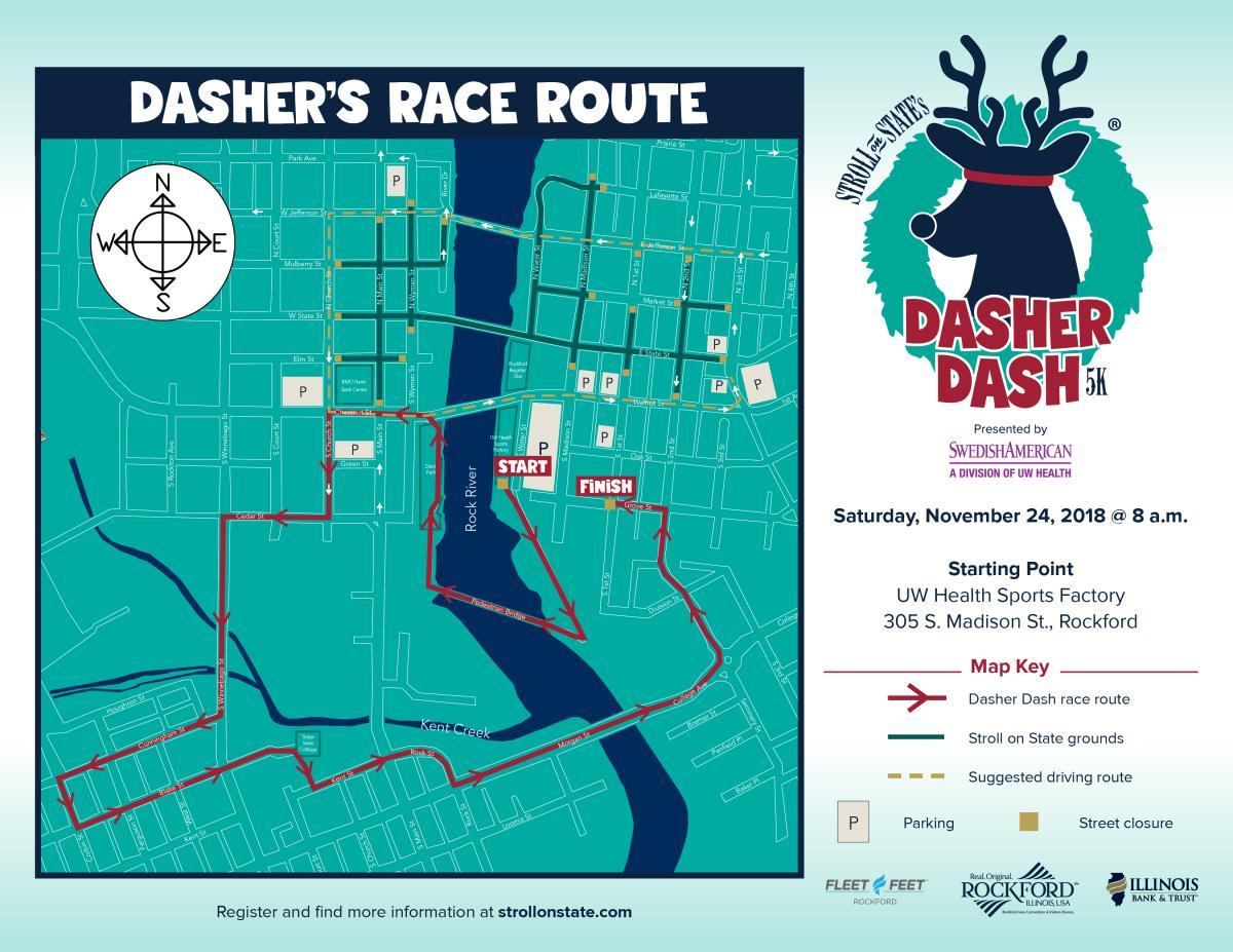 2018 Dasher Dash map