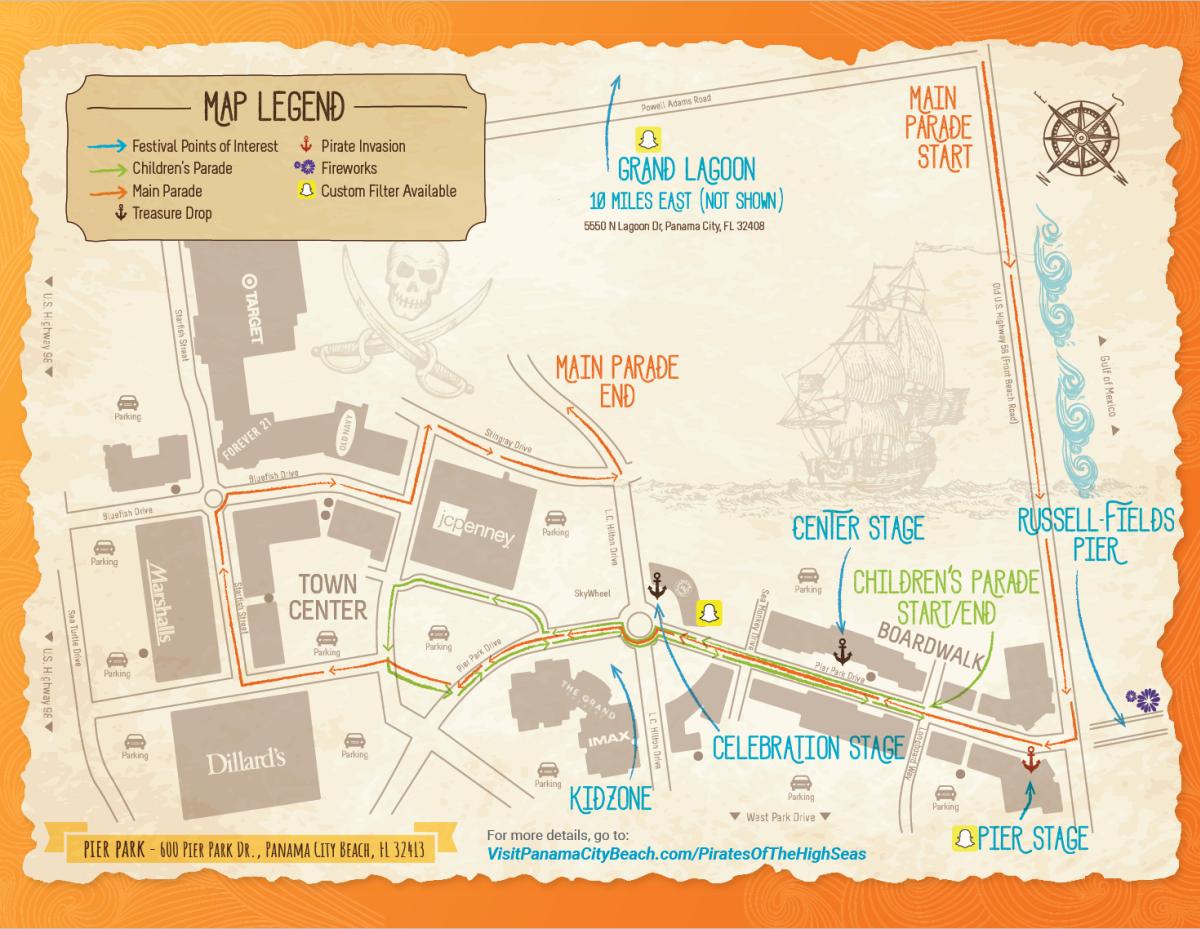 Pirates Fest 2018 Map