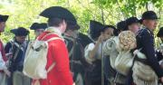 "Visit Fort Ticonderoga for its newest living history event ""Controversy, Conspiracy, and Colonial Congresses"" on June 23rd.  Picture here, Fort Ticonderoga historic interpreters and volunteers portray soldiers at the Fort in 1775.  Photo courtesy of  George Efinger."