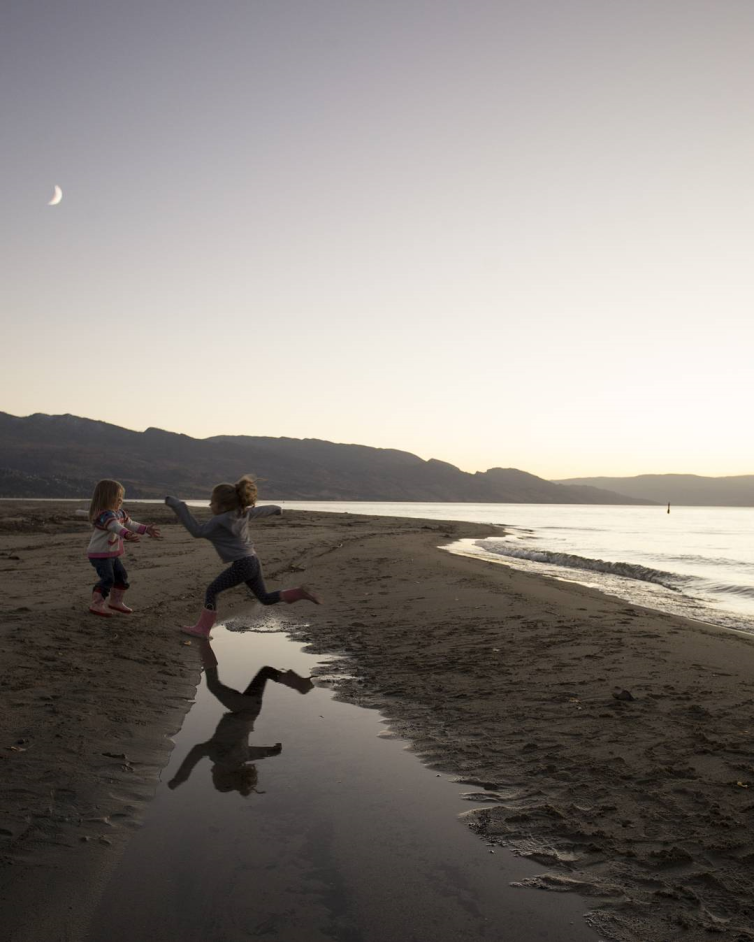 Girls at Hidden Beach