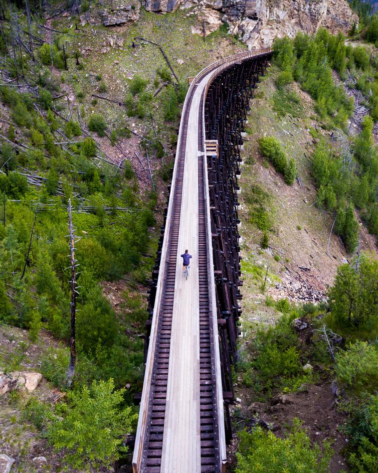 Myra Canyon Trestles   Drone View
