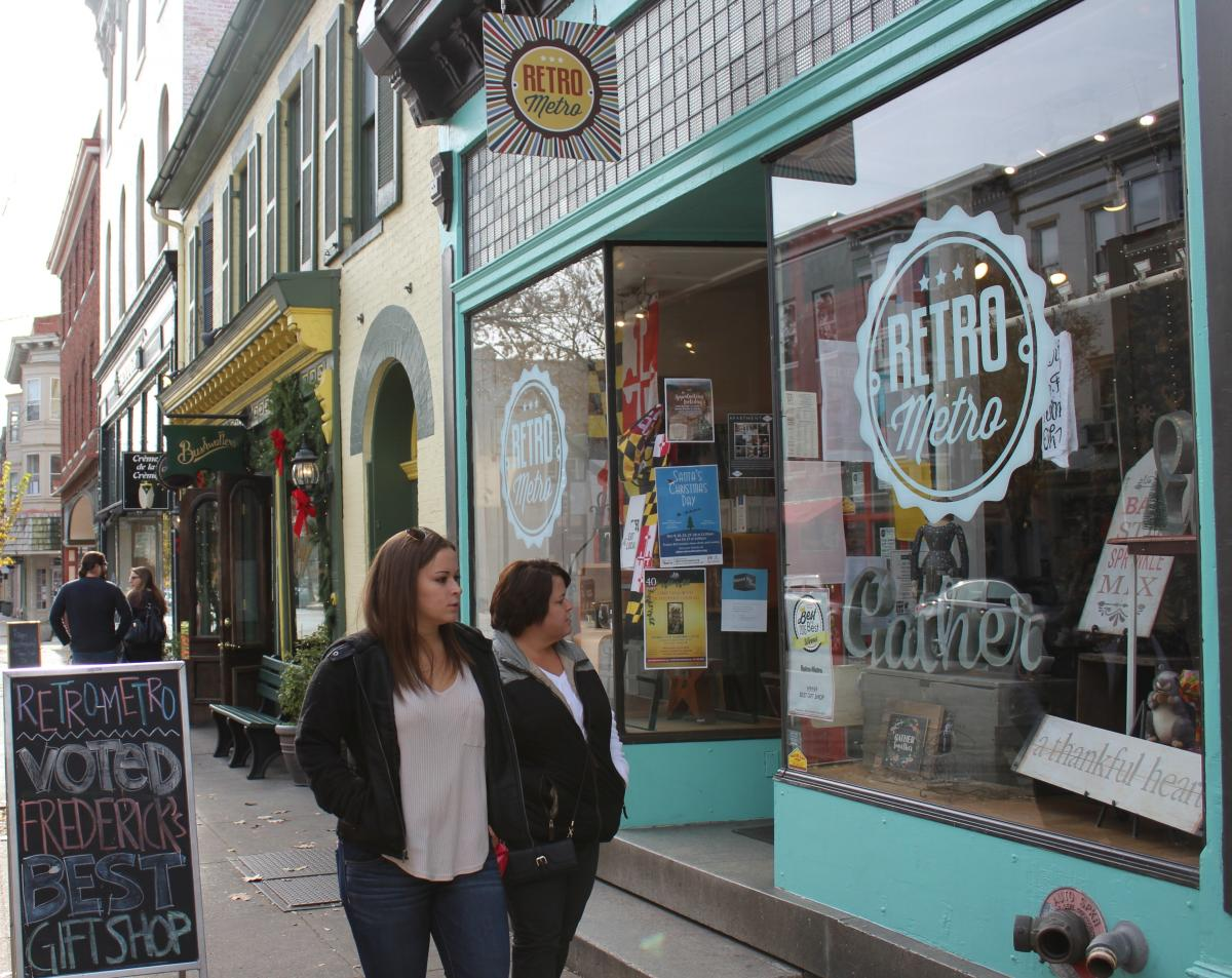 Women Shopping in Downtown Frederick