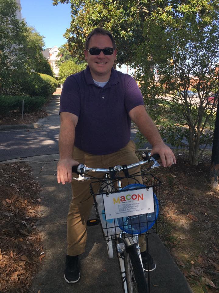 Steven Fullbright on Bike