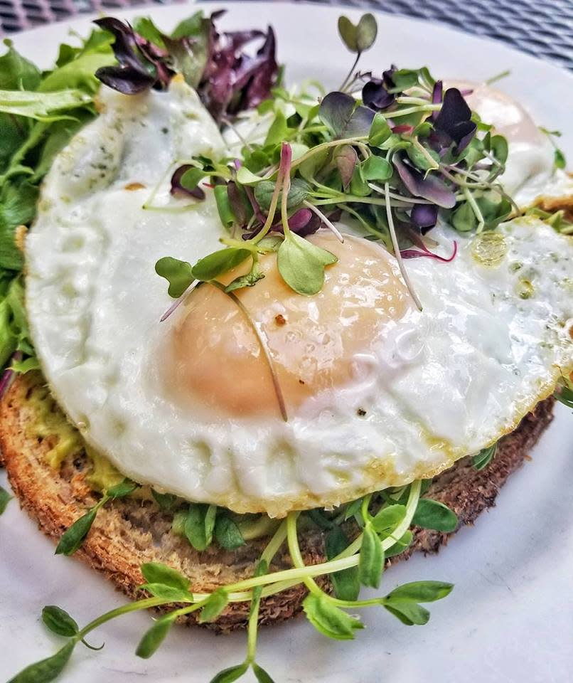 Avocado Toast with a Sunny Side Up Egg at WItherspoon Grill