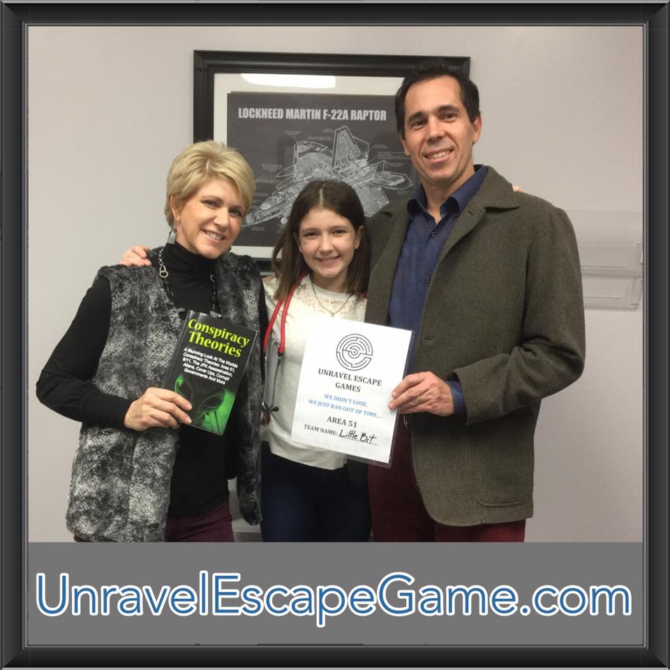 Family Survived the Unravel Escape Game in Lafayette