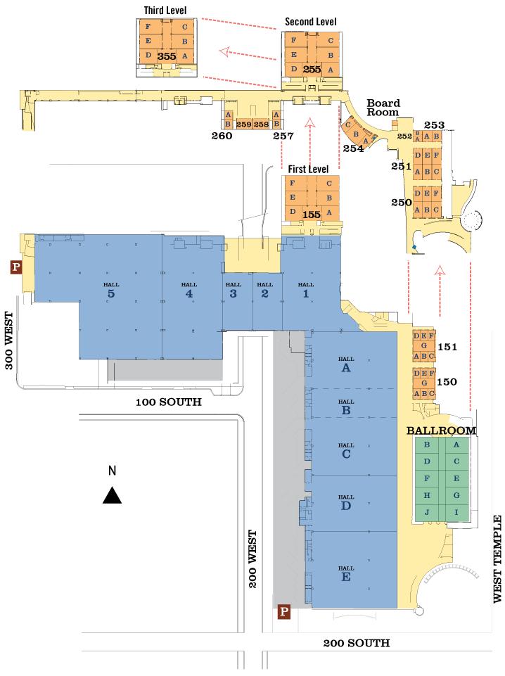 Salt Palace Floorplan