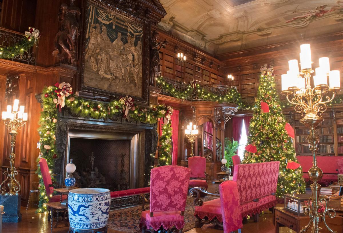 Christmas at Biltmore Estate Library 2017