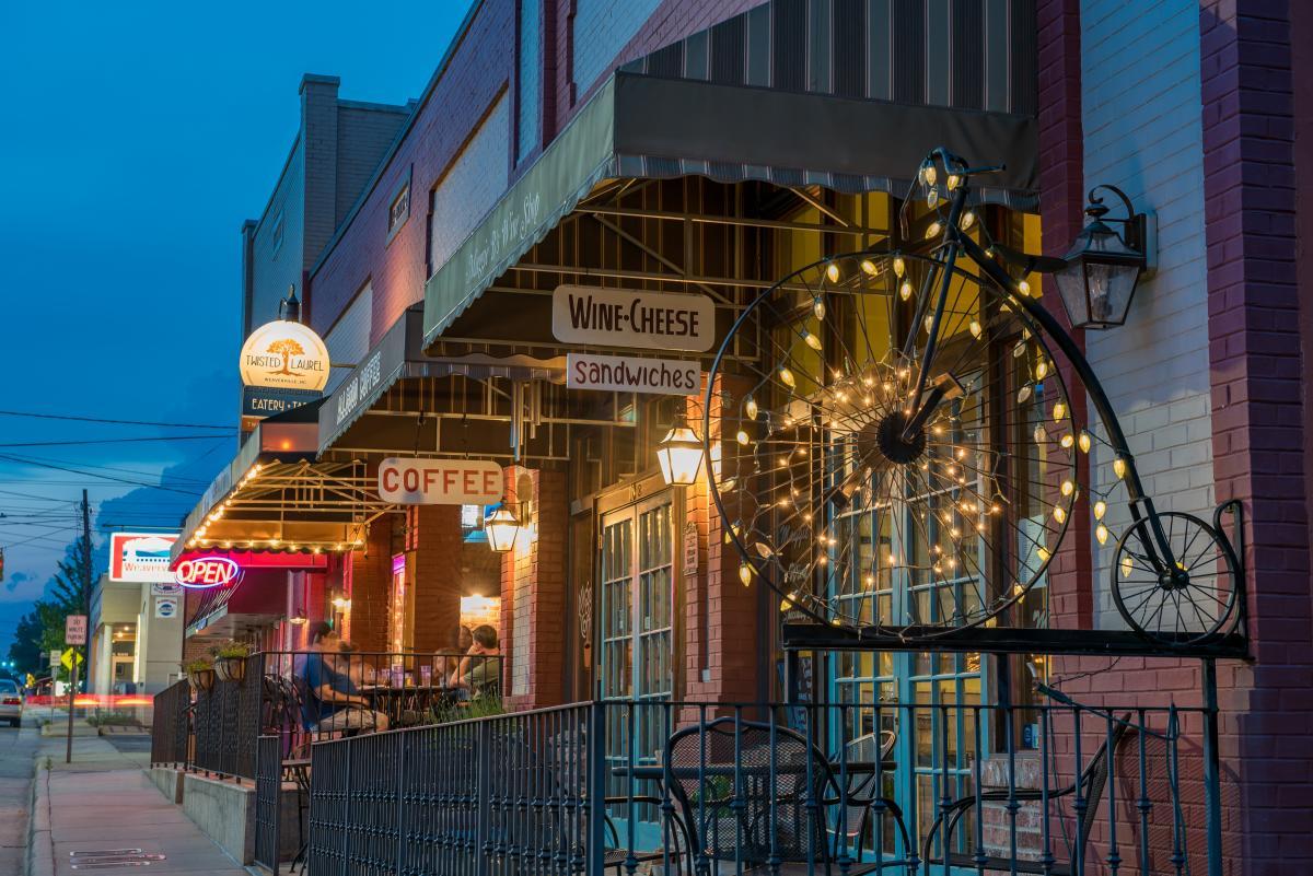 Main Street Weaverville at Dusk