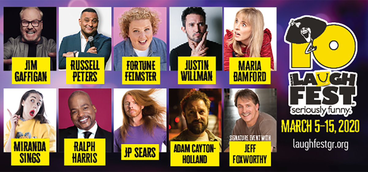 Lineup of comedian for LaughFest Grand Rapids