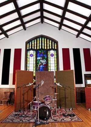 Echo Mountain Recording with Stained Glass.