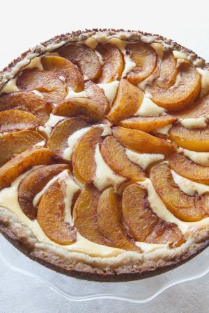 Peach-Topped Bavarian Torte #Recipe | ExploreAsheville.com