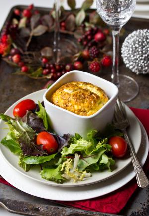 Pesto Egg Souffle #Recipe | ExporeAsheville.com