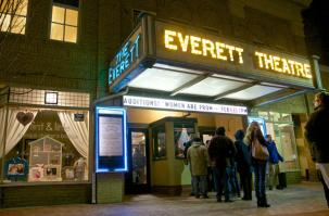 Middletown Everett Theatre at Night