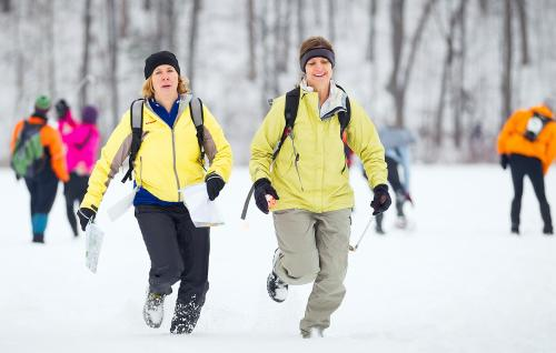 Winter Adventure Race Participants in Grand Rapids