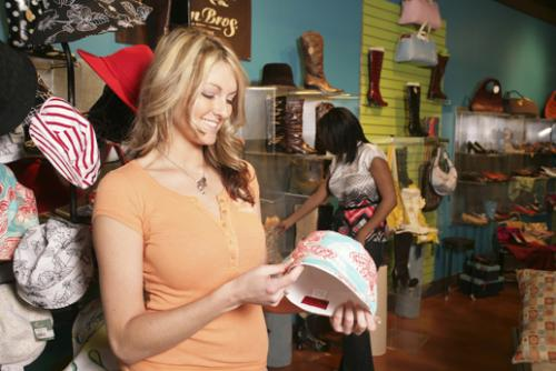 Women shop for clothing in a Grand Rapids store