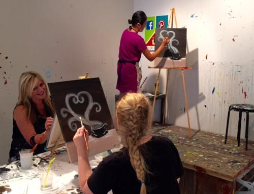 Painting at Brush Studio in Grand Rapids