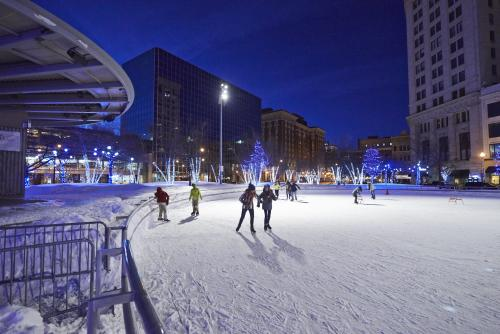 Ice Skating at Rosa Park Circle in Grand Rapids