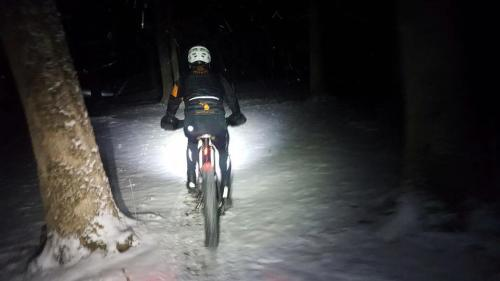 Fat Biking at Night in Grand Rapids