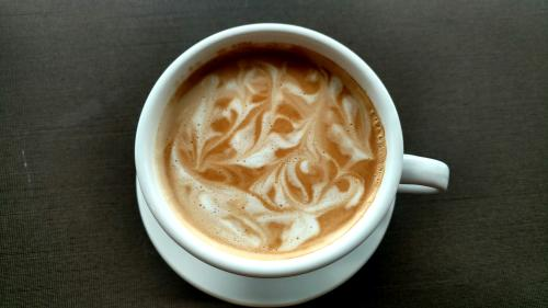 Latte from Little Lucy's Café in Grand Rapids