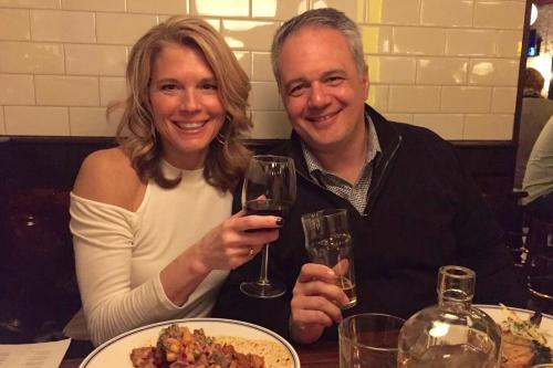 Kirsetin Morello and her husband at Butcher's Union restaurant