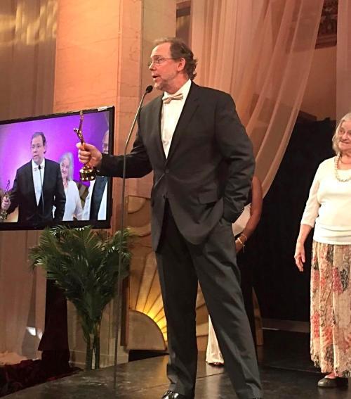 John Harper Philbin accepting award at the 2017 Eclipse Awards