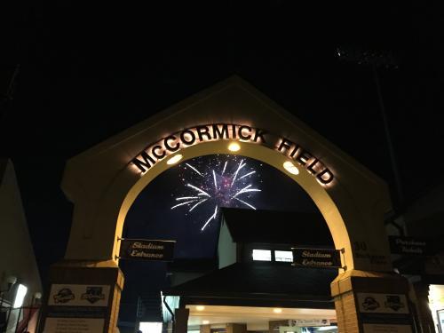 Fireworks at McCormick Field