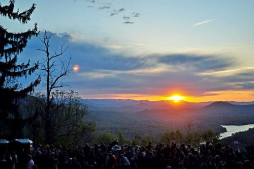 Chimney Rock Sunrise Easter Service