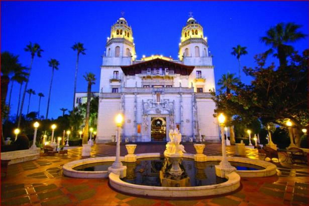 Hearst Castle Glowing at Night