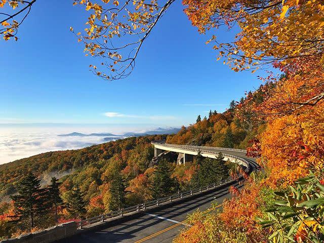 Linn Cove Viaduct Mid Fall 2016