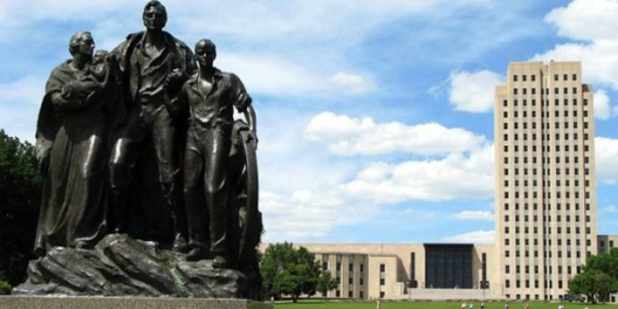 North Dakota capitol statue