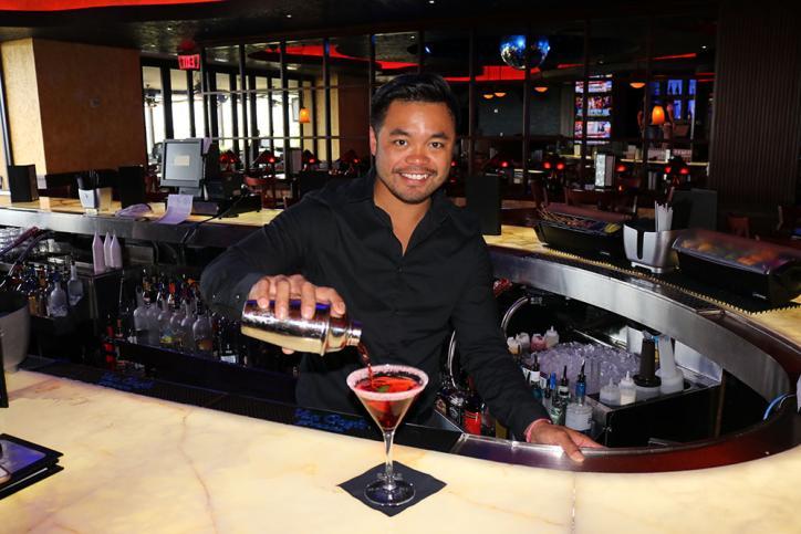 Bartender Blue Martini