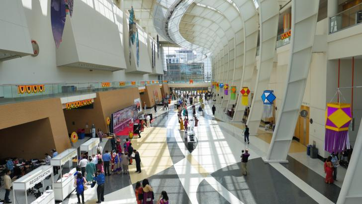 Interior of convention center during BMM in Grand Rapids, Michigan