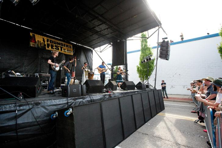 Band performing at Founders Fest 2015 in Grand Rapids