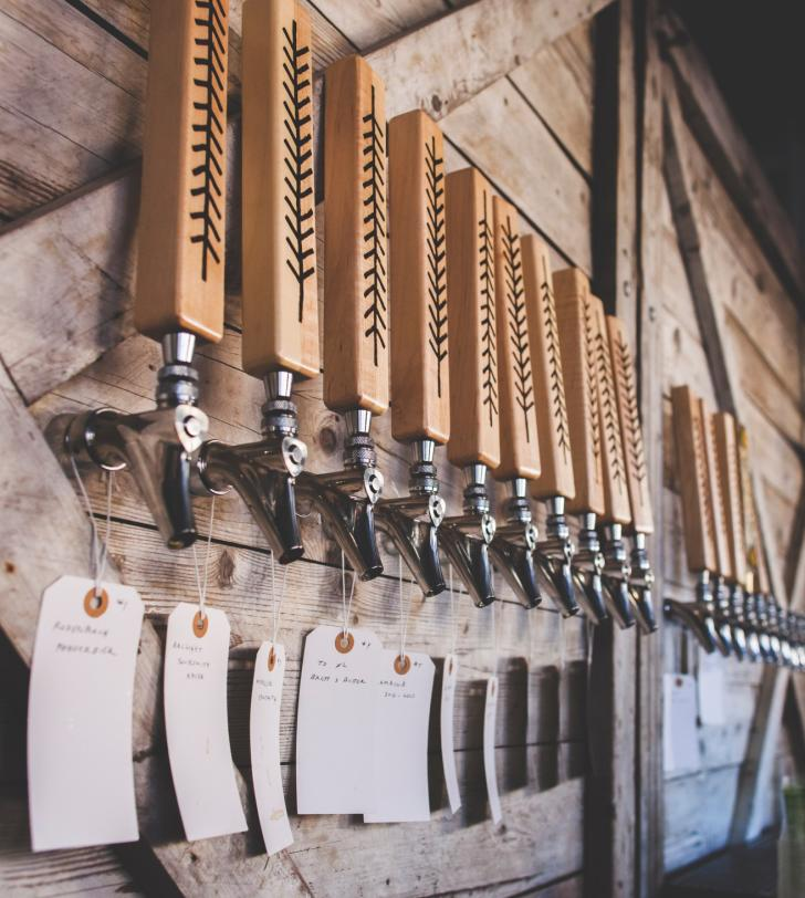 Tap handles at The Sovengard in Grand Rapids