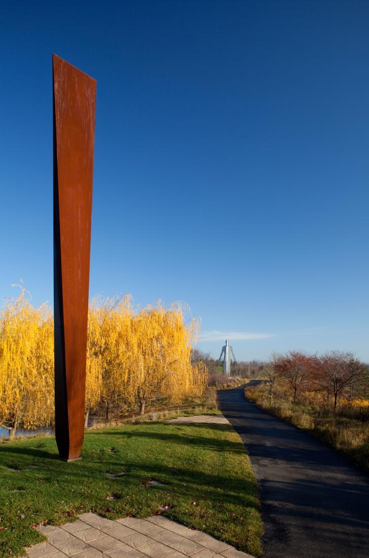 Galileo's Wedge by Beverly Pepper photo by William J. Hebert courtesy of Frederik Meijer Gardens & Sculpture Park