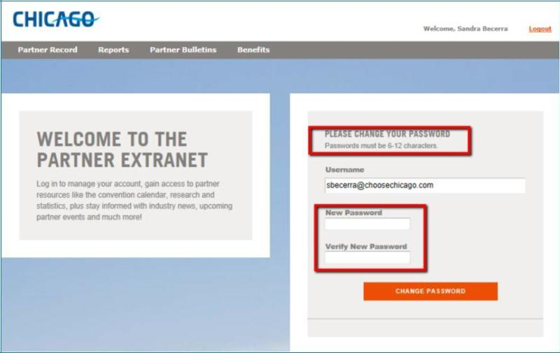 Extranet - Change PW