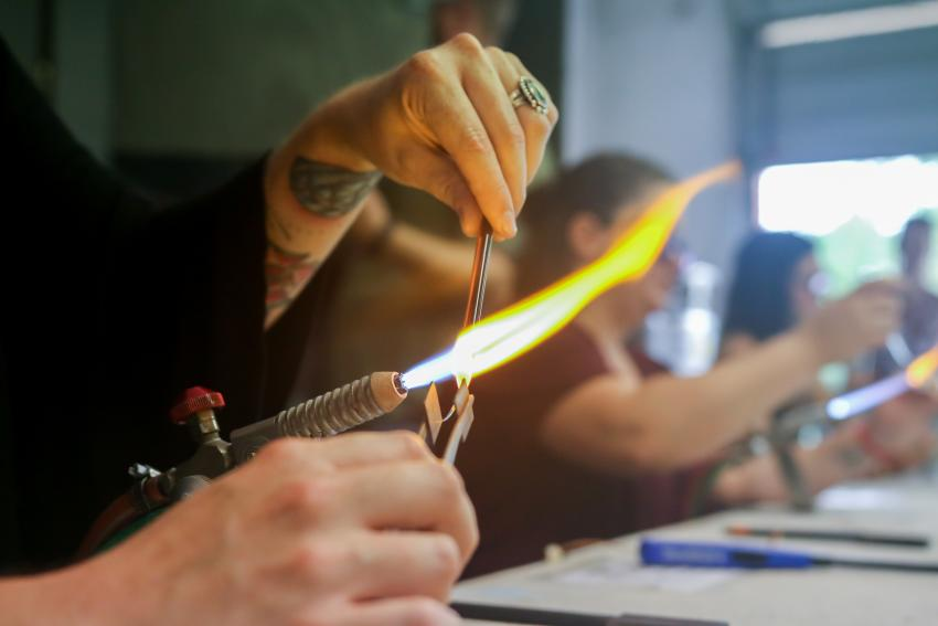 Flamework with Glass at the N.C. Glass Center in Asheville