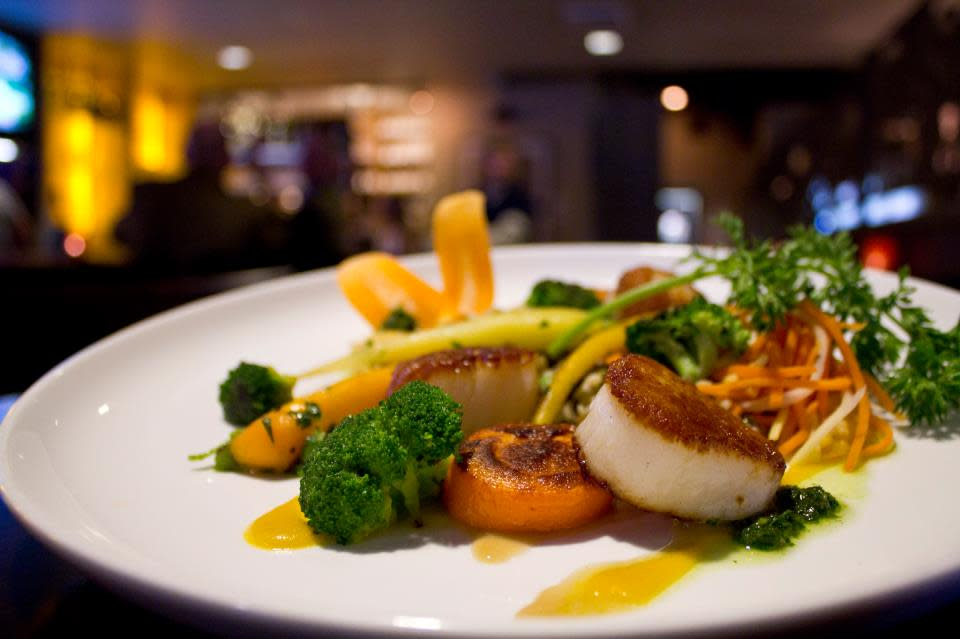 Photo of a scallops dish at The Grove
