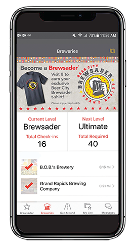 Brewsader App on iPhone