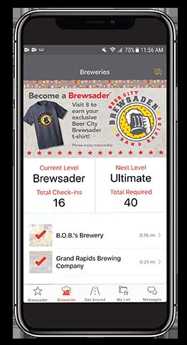 Brewsader App on iPhone