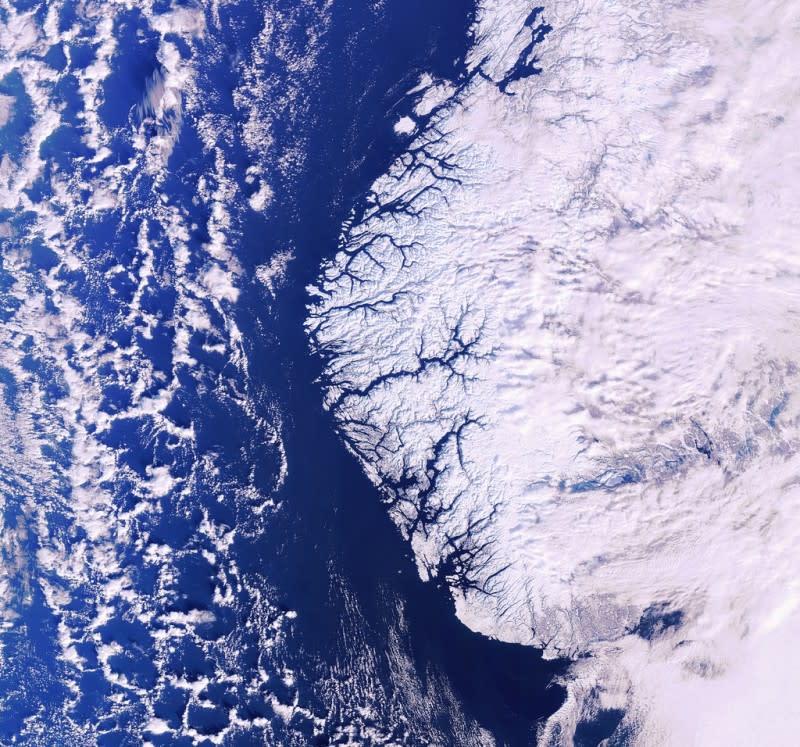 Fjorder og isbreer