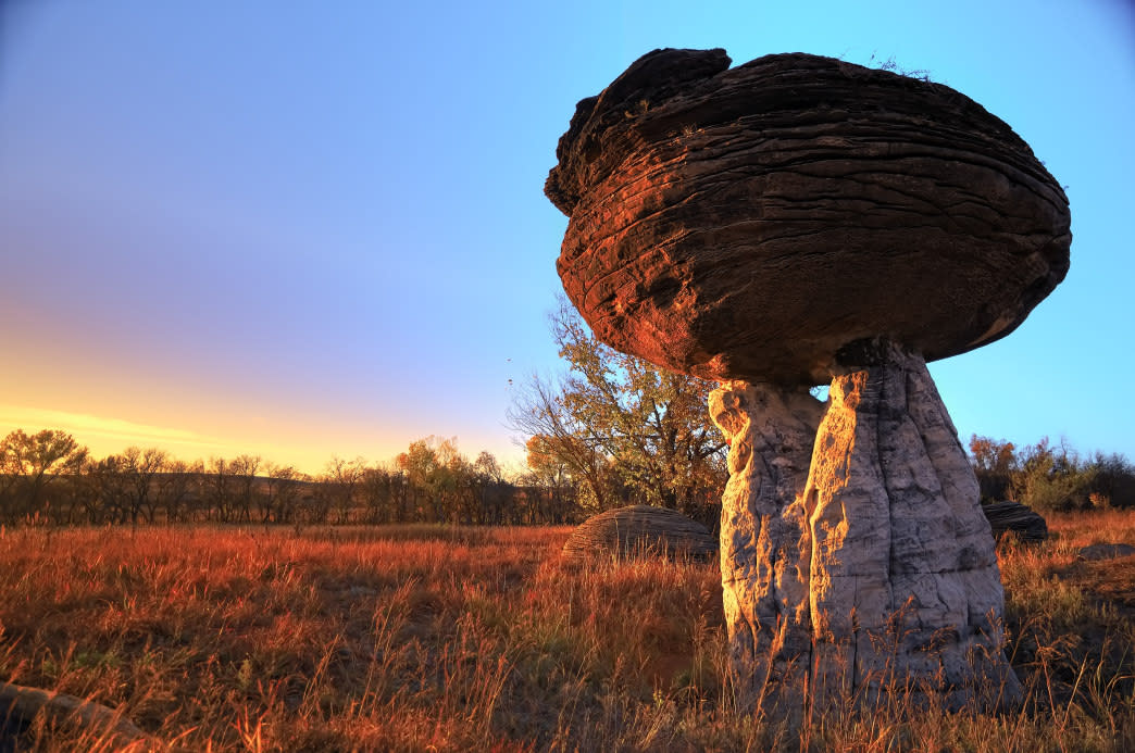 Mushroom Rock State Park is one of the Eight Wonders of Kansas.