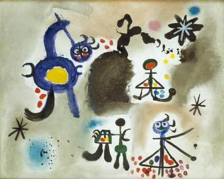 0a3b172469e Joan Miró, Personnage orageux , 1949