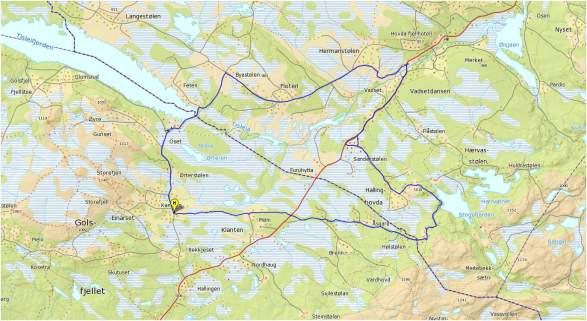 Tisleidalen Rundt Middels 43 Km Golsfjellet