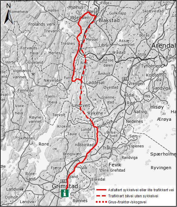 Cycling Tour The Froland Round 46 Km