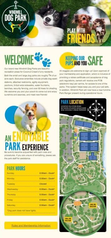 Windmill Dog Park | Coconut Creek, FL 33063