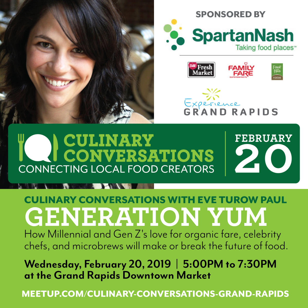CULINARY CONVERSATIONS WITH EVE TUROW PAUL: GENERATION YUM | Lecture/Education in Grand Rapids, MI