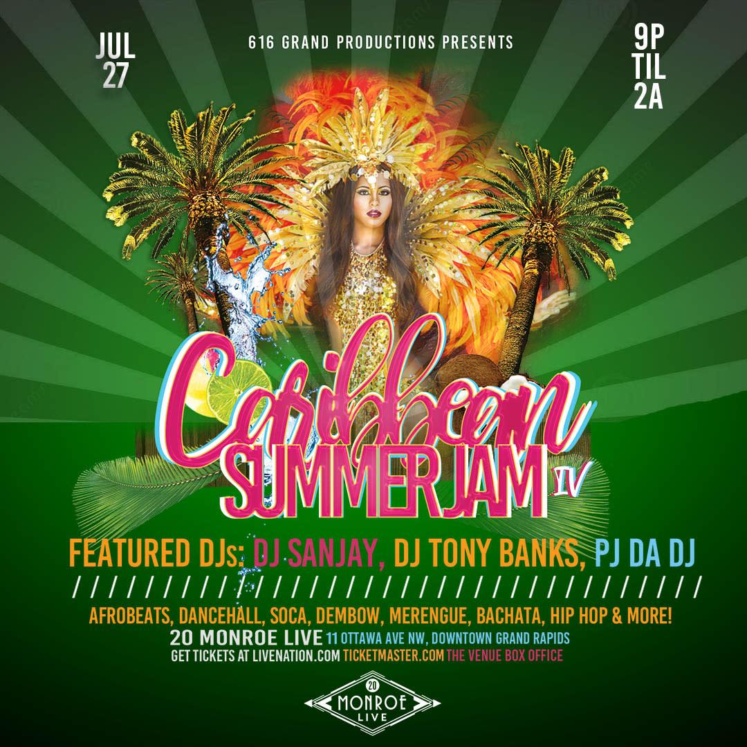 616 Grand Productions presents Caribbean Summer Jam IV | Music in Grand Rapids, MI
